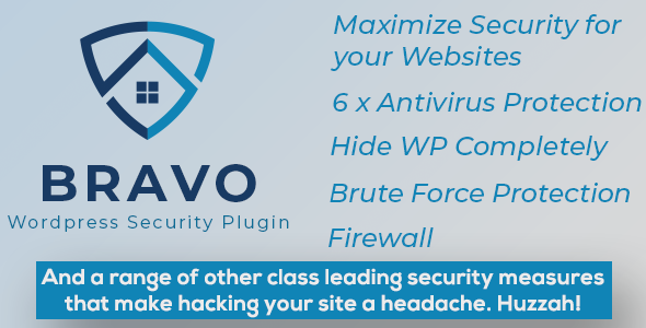 Bravo WordPress Security Pluginis the choice for all your website security needs from Hide Wordpress Completely to Firewall, AntiVirus, 2 Factor Authentication, reCaptcha and more!.…
