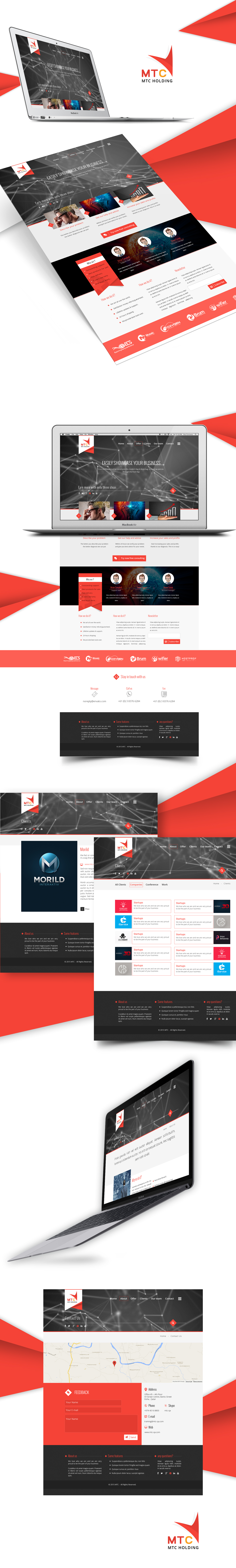 UI/UX Design for MTC Holding Company…